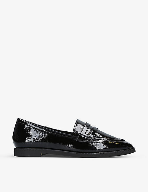 KG KURT GEIGER: Moby faux-patent leather loafers