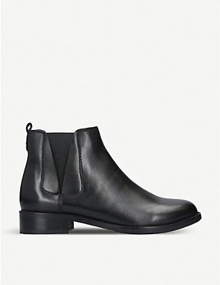 NINE WEST: Crossley leather chelsea boots