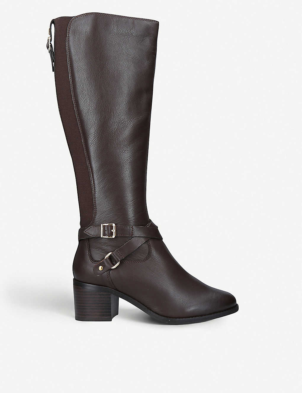 8f1526b0ede NINE WEST - Raleigh buckle-detail leather boots
