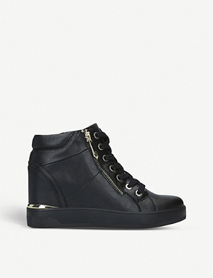 ALDO Ailanna faux-leather high-top trainers