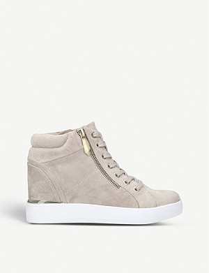ALDO Ailanna faux-suede high-top trainers