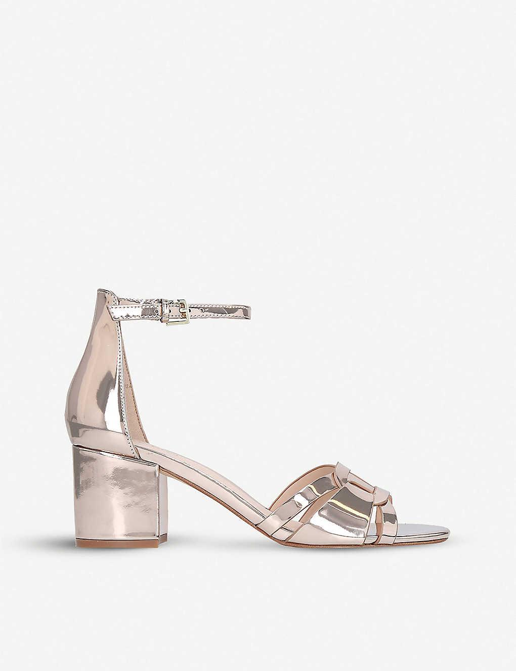 8a125d016f ALDO - Agreidia faux-leather metallic sandals | Selfridges.com