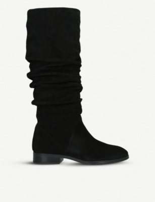 ALDO Ligodda ruched suede knee-high boots