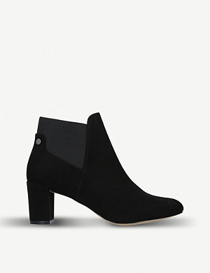 NINE WEST Cent suedette heeled ankle boots
