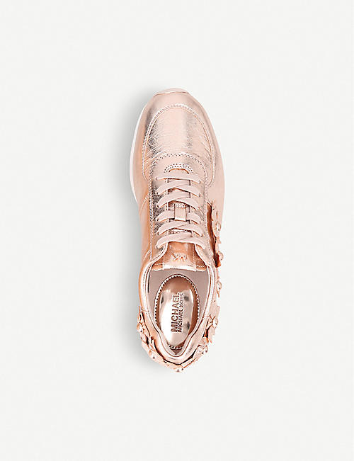 MICHAEL MICHAEL KORS Allie appliqué leather trainers