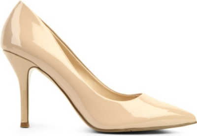 NINE WEST Flax patent-leather courts