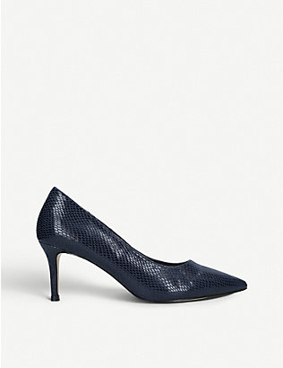 CARVELA: Kareful snake-embossed faux-leather courts