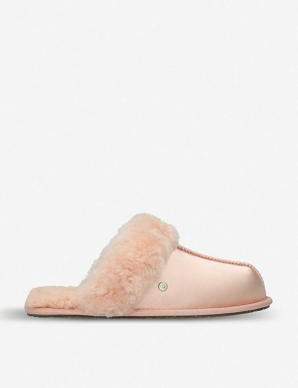 f3a67b447b5 UGG - Scuffette shearling-lined satin slippers | Selfridges.com