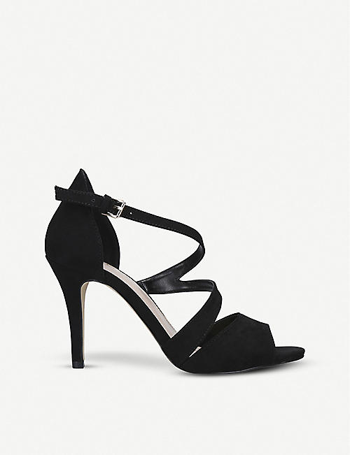 CARVELA: Lightning cross-strap suedette sandals