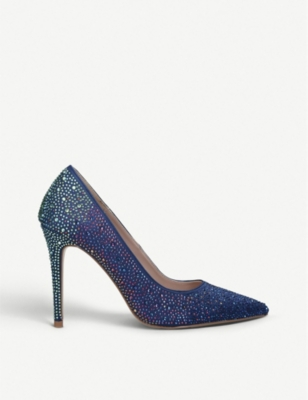 CARVELA Lovebird crystal embellished courts