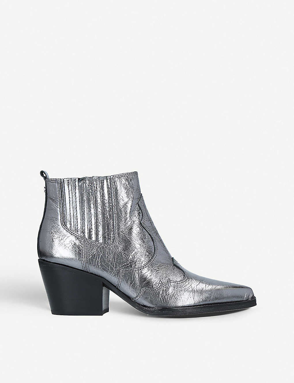 61084b2d1 SAM EDELMAN - Winona metallic western chelsea boots   Selfridges.com