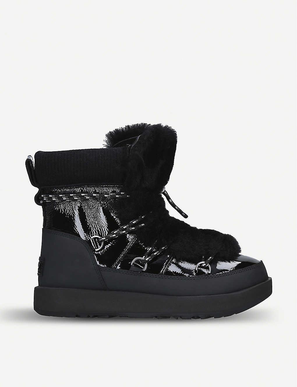 ad1800bce07 UGG - Highland waterproof leather and sheepskin boots | Selfridges.com