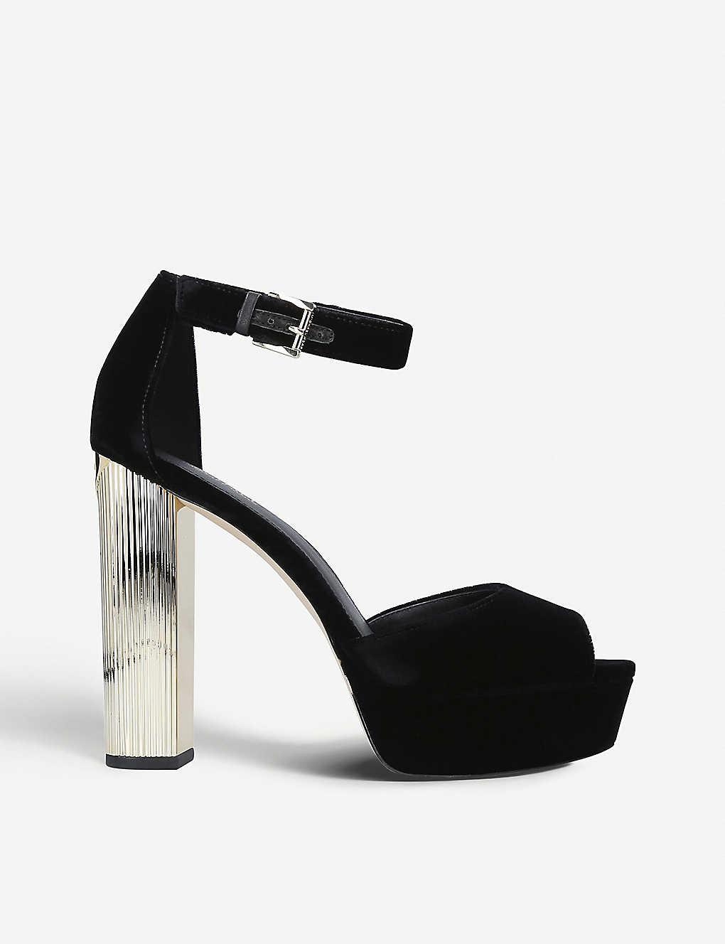 6f7648396c6 MICHAEL MICHAEL KORS - Paloma suede platform sandals   Selfridges.com