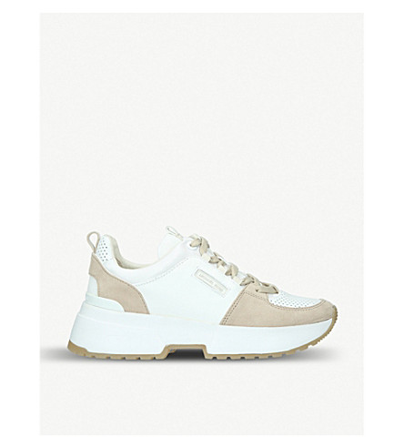3f8177b4c7cb ... MICHAEL MICHAEL KORS Cosmo leather and suede trainer (White oth.  PreviousNext