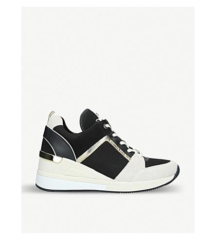 991b8f51d19 MICHAEL MICHAEL KORS - Georgie leather wedge sneakers