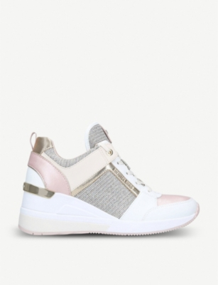 MICHAEL MICHAEL KORS Georgie leather wedge trainers