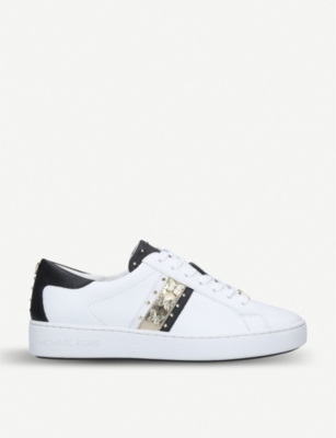 MICHAEL MICHAEL KORS Keaton contrast trim leather trainers