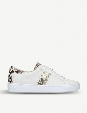 MICHAEL MICHAEL KORS Keaton snakeskin-print trim leather trainers