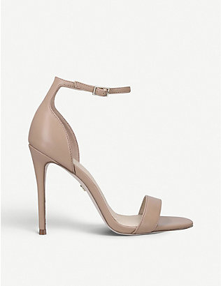 KG KURT GEIGER: Ali faux-leather heeled sandals