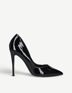 KG KURT GEIGER Alyx faux patent-leather courtss