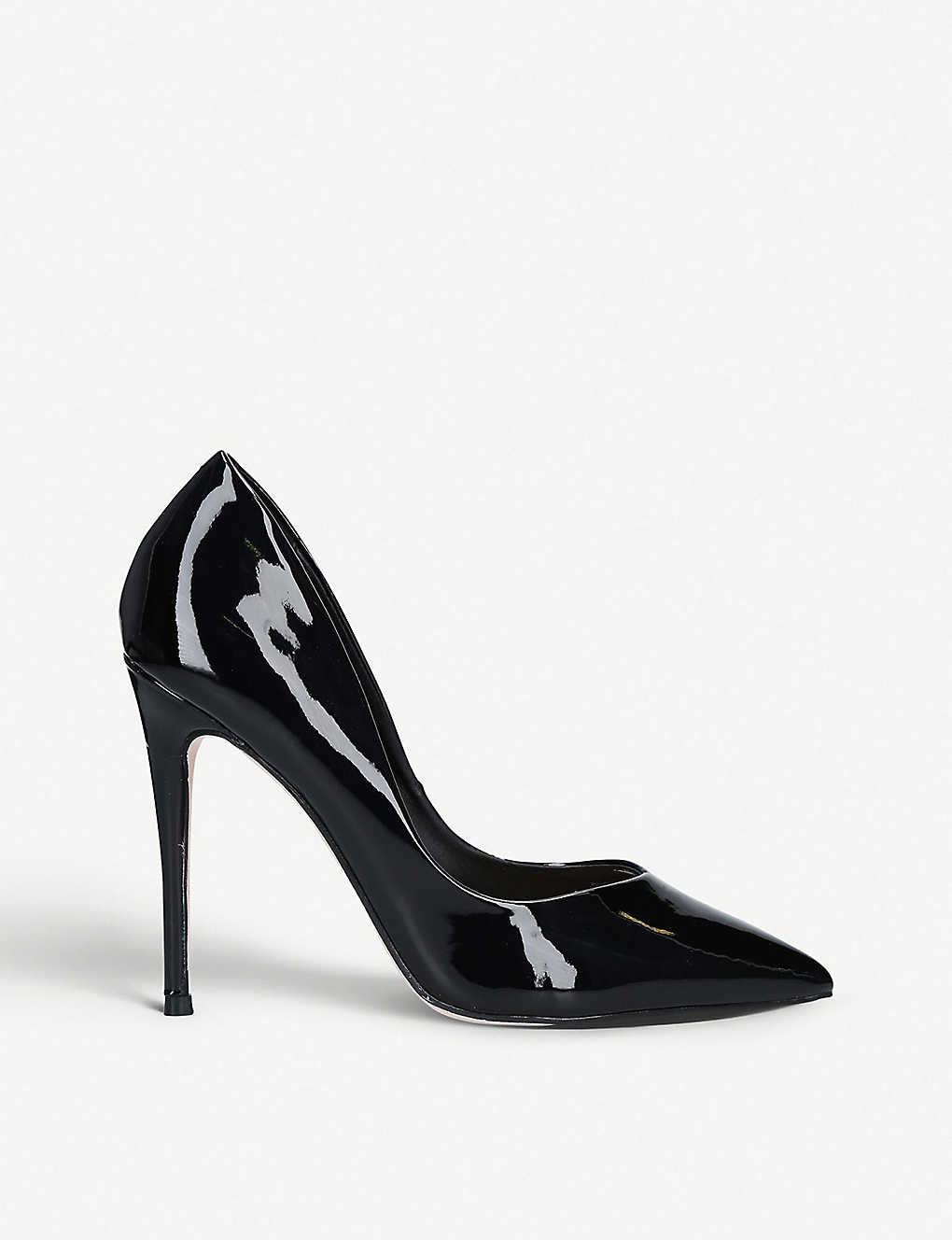 KG KURT GEIGER: Alyx faux patent-leather courtss