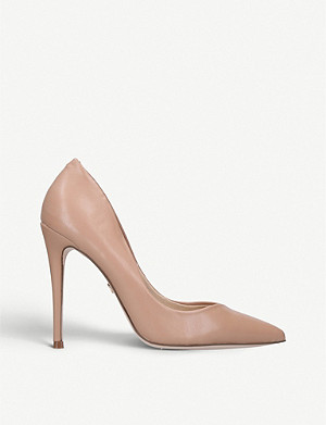 KG KURT GEIGER Alyx faux patent-leather courts
