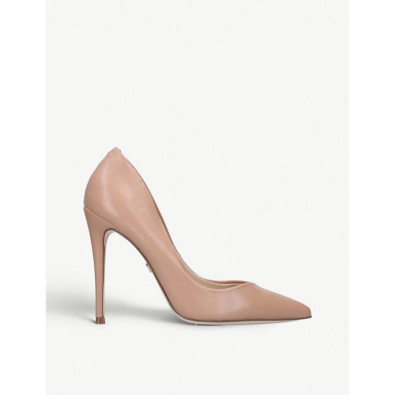 KG KURT GEIGER | KG Kurt Geiger Nude Alyx Faux Patent-Leather Courts High-Heel Shoes, Size: EUR 38/5 UK WOMEN | Goxip