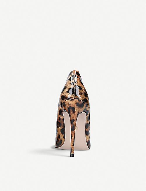 8e54b110a4dc KG KURT GEIGER Alyx leopard print faux patent-leather courts