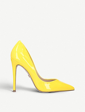 KG KURT GEIGER Alyx patent leather heeled court shoes
