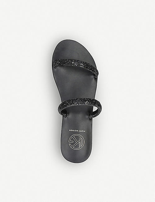 KG KURT GEIGER Royal2 strass-embellished faux-leather sandals