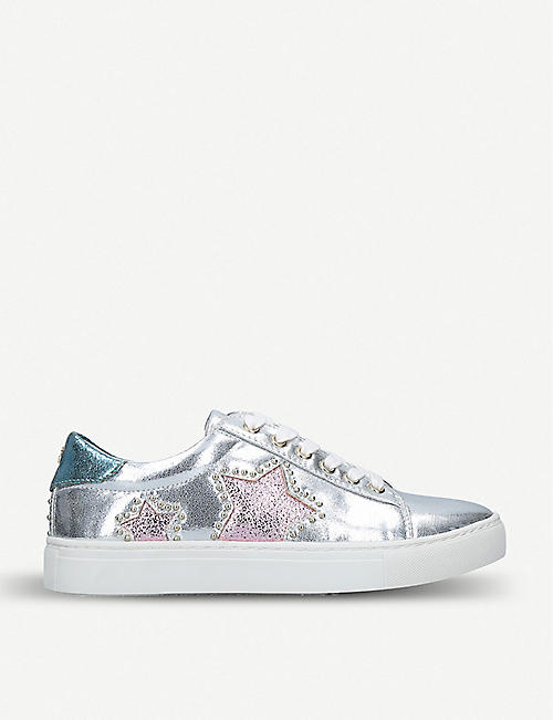 MISS KG: Lucie metallic faux-leather trainers