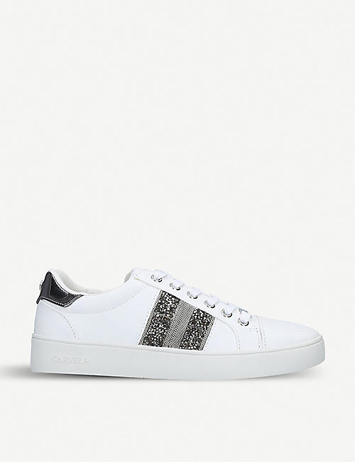 902dd0cfd85 CARVELA Luminous embellished faux-leather trainers