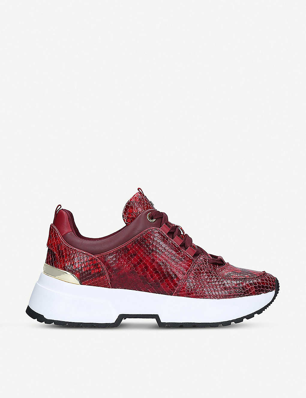 63dcc9ca2f8 MICHAEL MICHAEL KORS - Cosmo snakeskin-effect leather trainers ...