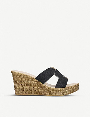 CARVELA COMFORT Stacie metallic woven wedge sandals