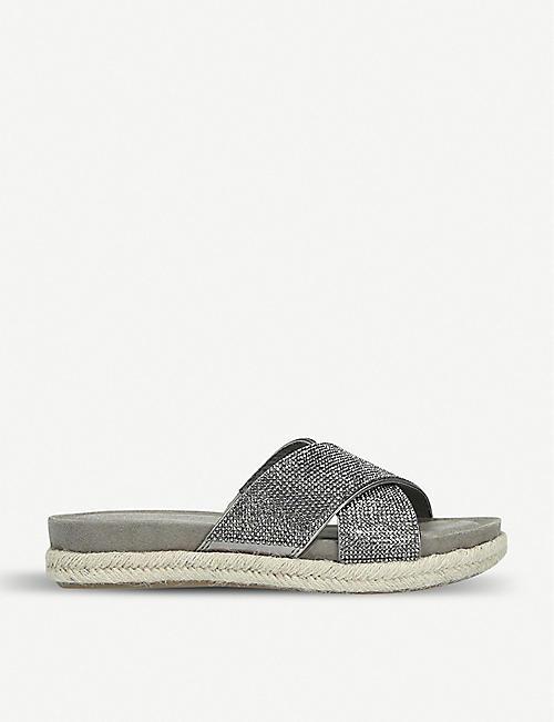3f579d0ed CARVELA COMFORT Sian metallic crystal-embellished espadrille sandals