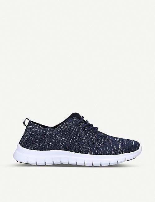 NINE WEST: Stax knitted trainers