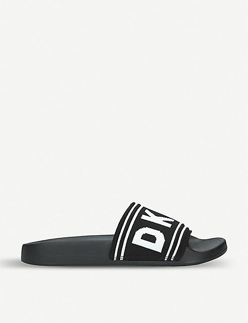 98fa0546ecad DKNY Zora intarsia knit and rubber sliders