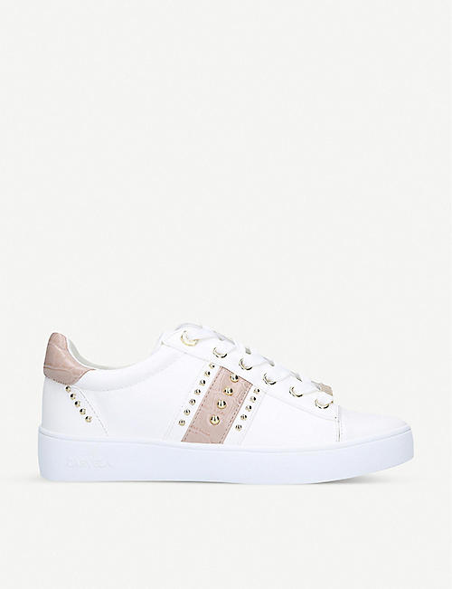 CARVELA: Jargon faux-leather low-top trainers