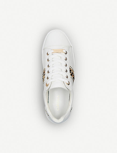 CARVELA Jargon embellished contrast-trim low-top trainers