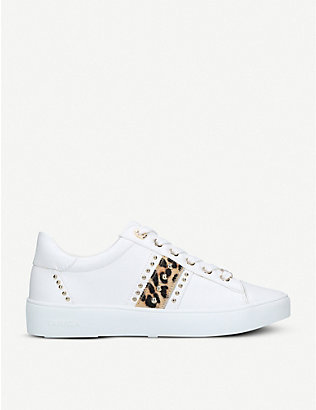 CARVELA: Jargon embellished contrast-trim low-top trainers