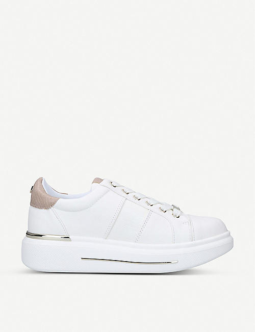CARVELA: Jubilate stud-embellished faux-leather trainers