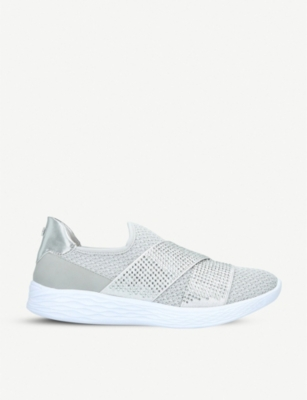 CARVELA COMFORT Corinne crystal-embellished knitted trainers
