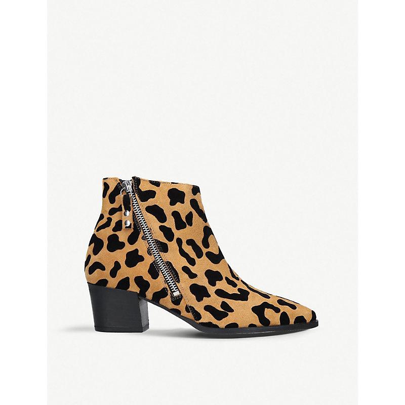 CARVELA | Sacriledge Leopard Print Ankle Boots | Goxip