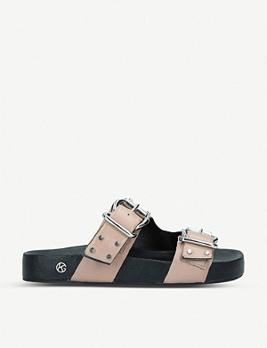 KG KURT GEIGER Rhian stud-embellished leather sandals