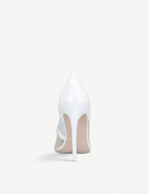 KG KURT GEIGER Faith faux-leather and perspex pumps