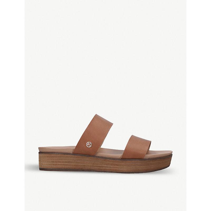 KG KURT GEIGER | Robby Faux-Leather Platform Sandals | Goxip