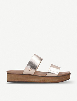 KG KURT GEIGER Robby metallic faux-leather sandals