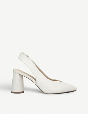 KG KURT GEIGER Carrie faux-leather slingback courts