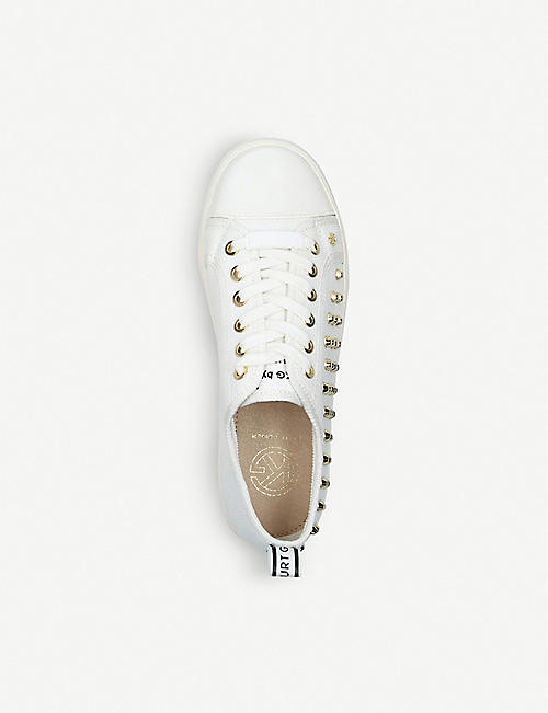 KG KURT GEIGER Louisa stud-embellished canvas trainers