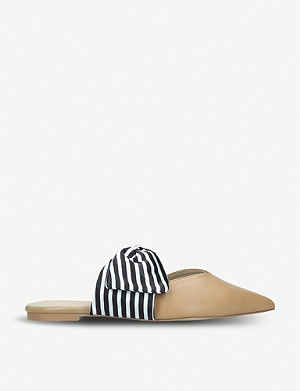 KG KURT GEIGER Mimi bow faux-leather mules